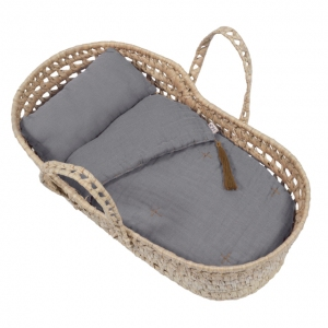 Doll Basket En Bed Linnen Stone Grey van Numero 74