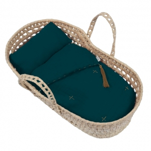 Doll Basket En Bed Linnen Teal Blue van Numero 74