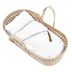 Doll Basket En Bed Linnen White van Numero 74