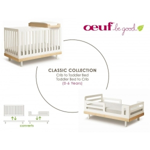 Classic Toddler Bed Conversion White van Oeuf Nyc