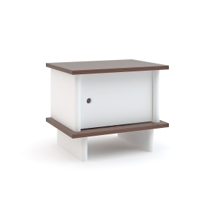 Nachtkastje Ml Night Stand Walnoot van Oeuf Nyc