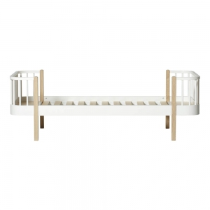 Wood Bed 90X200 White-Oak van Oliver Furniture