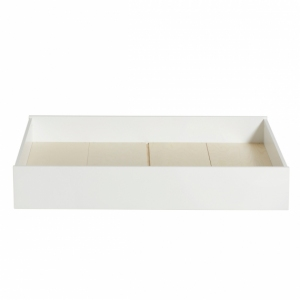 Wood Bed Drawer White van Oliver Furniture