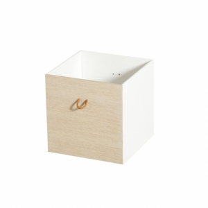 Boxes 2pcs White/Oak van Oliver Furniture