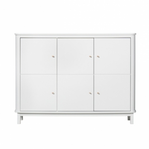 Kast Wood Multi Cupboard 3 Doors White van Oliver Furniture
