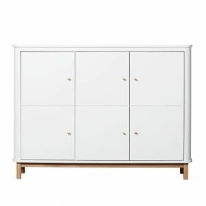 Kast Wood Multi Cupboard 3 Doors White-Oak van Oliver Furniture