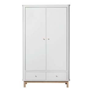 Kledingkast Wood Wardrobe 2 Doors White-Oak van Oliver Furniture