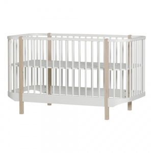 Ledikant Wood Cot 70X140 White-Oak van Oliver Furniture