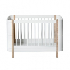 Mini+ Ledikant/Bed 0-9 Jaar White-Oak 68X122Cm  van Oliver Furniture