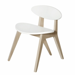 Pingpong Chair – White/Oak  van Oliver Furniture