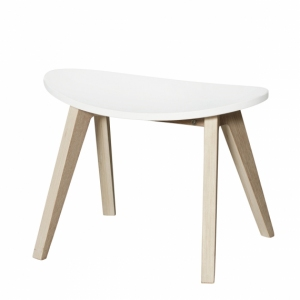 Pingpong Stool – White/Oak van Oliver Furniture