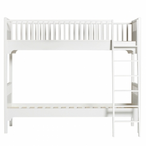 Seaside Classic Beds - Classic Bed Bunk With Slant Ladder  van Oliver Furniture