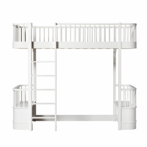 Wood Loft Bed White 90X200Cm van Oliver Furniture