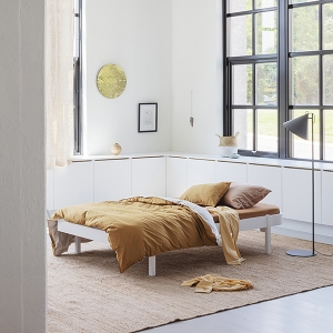 Wood Lounger 120 White  van Oliver Furniture