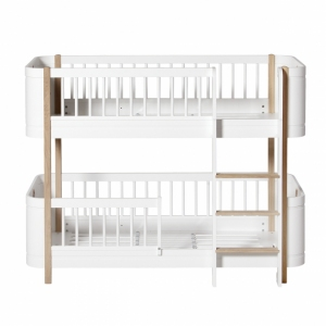 Wood Mini+ Low Bunk Bed White Oak van Oliver Furniture