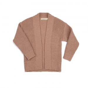 Chunky Knit Cardigan Dusty Nude van Phil & Phae