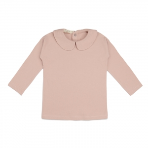 Collar Tee Blush Long Sleeves van Phil & Phae
