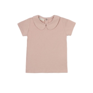 Collar Tee Blush Short Sleeves van Phil & Phae
