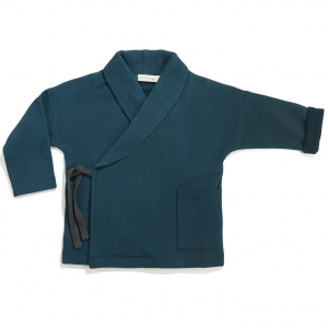 Cross-Over Sweat Jacket Deep Teal  van Phil & Phae
