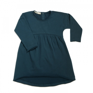 Drop-Shoulder Dress Deep Teal  van Phil & Phae