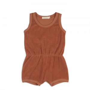 Frotté Playsuit Burnt Clay van Phil & Phae