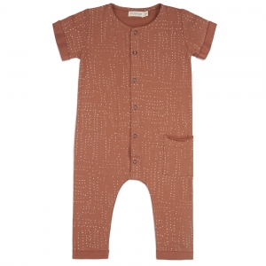 One-Pocket Jumpsuit Aop Burnt Clay van Phil & Phae