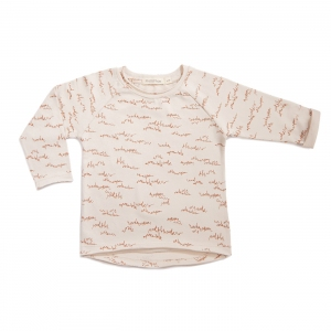 Raglan Tee Allover Oatmeal  van Phil & Phae
