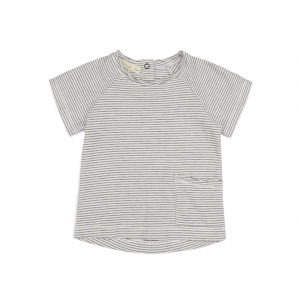 Raw-Edge Tee Shirt Vanilla Stripe van Phil & Phae