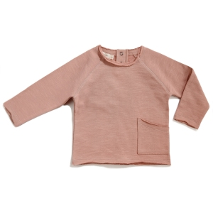 Raw-Edged Sweater Dusty Blush van Phil & Phae
