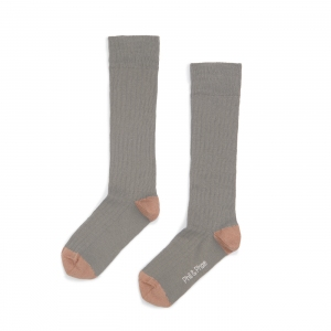 Ribbed Knee Socks Eucalyptus  van Phil & Phae