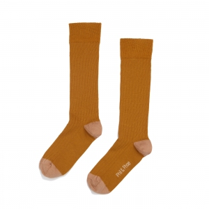 Ribbed Knee Socks Golden van Phil & Phae