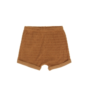 Striped Frottee Shorts Anitique Brass van Phil & Phae