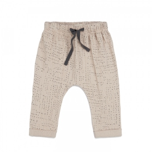 Textured Baby Pants Aop Almond Milk van Phil & Phae
