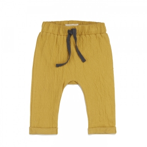 Textured Baby Pants Dusty Yellow van Phil & Phae