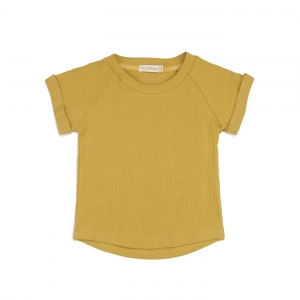 Textured Raglan Top S/S Dusty Yellow van Phil & Phae