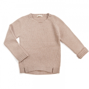 Woolmix Knit Sweater Oatmeal  van Phil & Phae