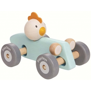 Chicken Racing Car van Plan Toys