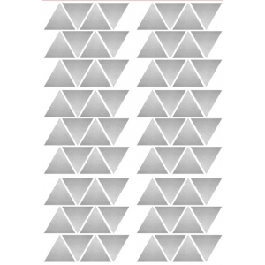 Stickers Triangles Argent van Pöm Le Bonhomme
