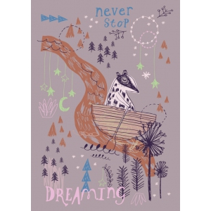 Poster Never Stop Dreaming van Rosie Harbottle