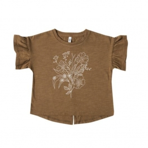 Bouquet Flutter Tee Saddle van Rylee & Cru