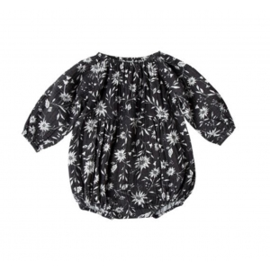 Floral Long Sleeve Bubble Romper Midnight  van Rylee & Cru