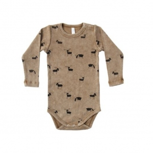 Moose Ribbed Onesie Saddle van Rylee & Cru