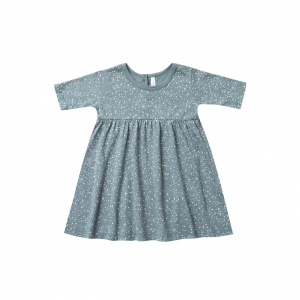 Snow Finn Dress Dusty Blue van Rylee & Cru