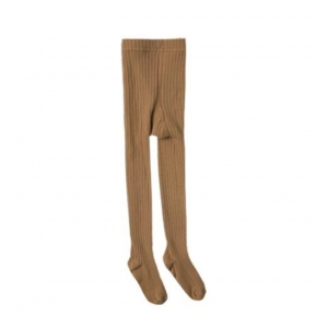 Solid Ribbed Tights Saddle van Rylee & Cru