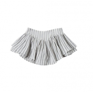 Stripe Skort Ivory Washed Denim van Rylee & Cru