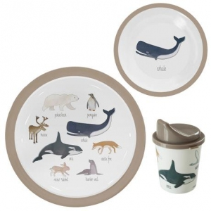 Melmine Dinner Set 3 Artic van Sebra