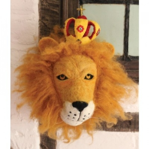 Dierenkop Leopold The Lion van Sew Heart Felt