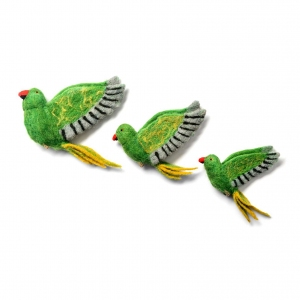 Flying Parakeet Trio van Sew Heart Felt