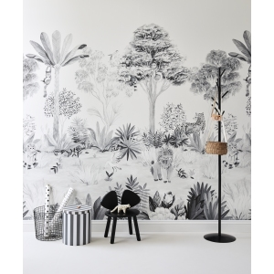 Classic Mural Jungle Grey  van Sian Zeng