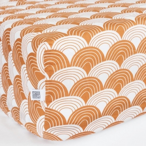 Hoeslaken Cinnamon Brown van Swedish Linens